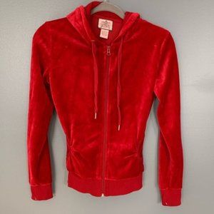 Foval Khrson Zip Up Red Hoodie SZ S